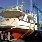 AYB services stores and services boats from all over the United States and around the World like the SEA FOX, a 58' Kadey-Krogen 2008 being prepared for a cruise up the eastern seaboard to Maine.