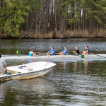 Local rowing teams, who keep their boats at AYB, hit the water and enjoy the unseasonably warm weather.