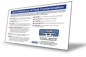 Quick Reference of Fluid Contamination