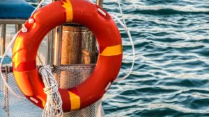 boat with life preserver